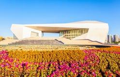 Bouw van het Shanxi de Grote theater in de ochtend royalty-vrije stock foto