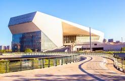 Bouw van het Shanxi de Grote theater in de ochtend stock foto's