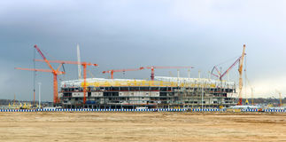 Bouw van het stadion stock foto