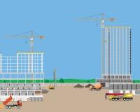 Bouw van high-rise gebouwen Royalty-vrije Stock Foto