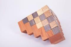 Bouw van houten kubussen Royalty-vrije Stock Fotografie