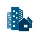 Bouw van huizenvector stock illustratie