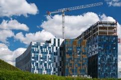 Bouw van moderne gebouwen Royalty-vrije Stock Foto