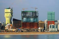 Bouw van nieuwe casino's in Macao Stock Fotografie