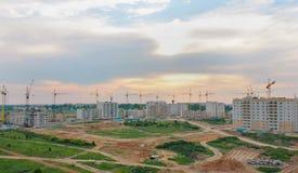 Bouw van nieuwe huizen Stock Foto's