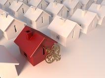Bouw van privé huizen Stock Afbeeldingen