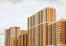 Bouw van residental gebouwen Royalty-vrije Stock Afbeelding