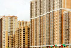 Bouw van residental gebouwen Royalty-vrije Stock Afbeeldingen