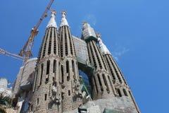 Bouw van Sagrada Familia in Barcelona Royalty-vrije Stock Afbeeldingen