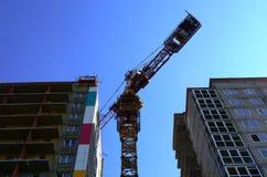 Bouw van woningbouw Stock Afbeeldingen
