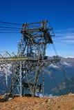 Bouw voor de Cabine van de Ski bij de bovenkant Stock Afbeelding