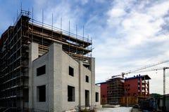 Bouwbouwwerkzaamheidwerf Stock Afbeeldingen