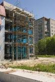 Bouwconstructie. Concrete plakken stock afbeelding