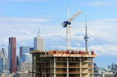Bouwconstructie in Toronto Royalty-vrije Stock Afbeelding