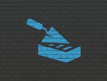Bouwconstructieconcept: Bakstenen muur op muurachtergrond royalty-vrije illustratie