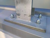 Bouwdetail in staal royalty-vrije stock afbeeldingen
