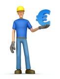 Bouwer met euro Vector Illustratie