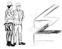 bouwers royalty-vrije illustratie