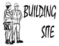 bouwers stock illustratie