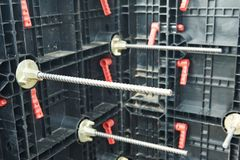 Bouwkader voor beton Stock Foto's