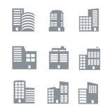 Bouwpictogrammen Stock Afbeelding