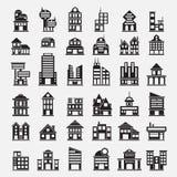 36 bouwpictogrammen Royalty-vrije Stock Afbeelding