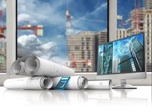 Bouwprojecten Stock Fotografie