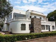 Bouwstijlen en huizen van San Isidro in Lima - Peru stock afbeelding