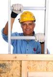 Bouwvakker Climbing Ladder stock foto