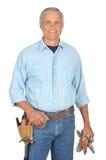 Bouwvakker die toolbelt draagt Royalty-vrije Stock Foto's