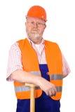 Bouwvakker met bouwvakker Royalty-vrije Stock Afbeeldingen