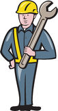 Bouwvakker Spanner Cartoon Stock Afbeeldingen