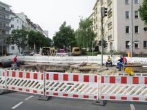 Bouwwerf Berlin Charlottenburg Stock Foto