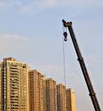 Bouwwerf in China Stock Foto's