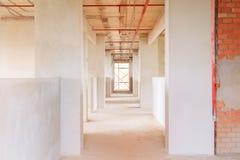 bouwwerf de binnenlandse ontwikkeling van het de bouwplan in huisvesting met exemplaarruimte stock foto