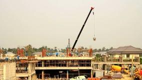 Bouwwerf, de bouw structuur stock video
