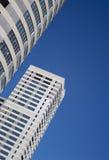 Bouwwerf en blauwe hemel Royalty-vrije Stock Fotografie