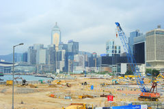 Bouwwerf in Hongkong stock fotografie
