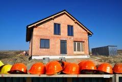 Bouwwerf nieuw huis Stock Afbeeldingen