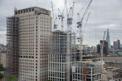 Bouwwerf nieuwe wolkenkrabber in de stad van Londen royalty-vrije stock fotografie