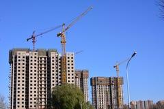 Bouwwerf in Peking Stock Foto