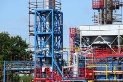 Bouwwerf van de raffinaderij de petrochemische installatie royalty-vrije stock fotografie