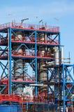 Bouwwerf van de raffinaderij de petrochemische installatie royalty-vrije stock afbeeldingen
