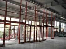 Bouwwerf van een Industrieel Gebouw binnen Stock Foto's