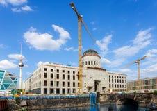 Bouwwerf van het stadspaleis in Berlijn Royalty-vrije Stock Afbeeldingen