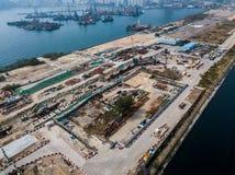 Bouwwerf van Hong Kong stock foto's
