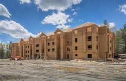 Bouwwerf voor nieuw flatgebouw Stock Fotografie