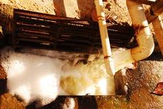Bouwwerfafvalwater stock afbeeldingen