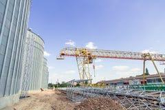 Bouwwerflift, graanschuur royalty-vrije stock fotografie