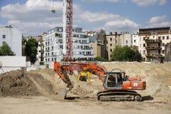 Bouwwerkzaamheid in Berlijn stock afbeelding